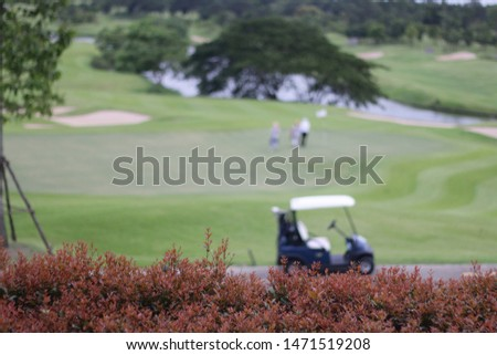 Pictures of beautiful golf courses. Golf car