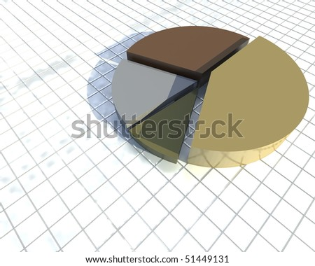 pie graph isolated