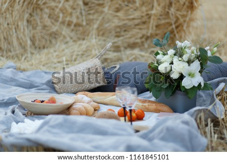 21/5000 piknik v pole pshenitsy picnic in the wheat field Stok fotoğraf ©