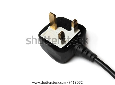 3 pin mains plug UK