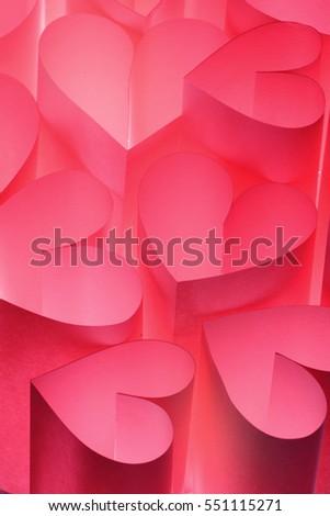 Pink abstract valentine background / Valentine hearts #551115271