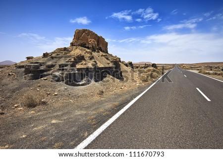 Plano de El Mojon, rock formations near Teguise, Lanzarote, Canary Islands, Spain