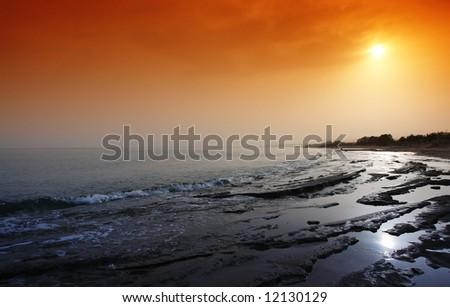 platanes beach near rethymno in crète island