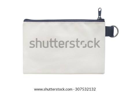 pocket purse bag on white background Foto stock ©