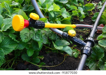 Portable garden plastic pipe system with a mounted shower sprayer head