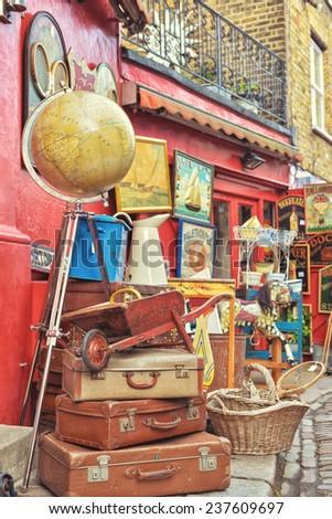 portobello road market in...