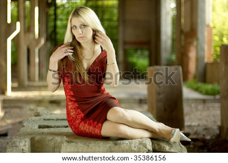 portrait of a beautiful young girl #35386156