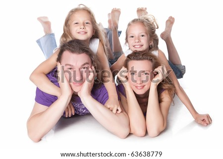portrait of a healthy happy family