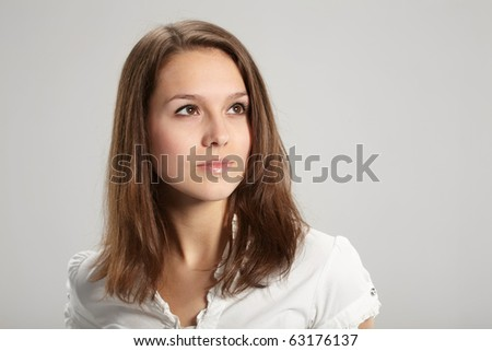 Portrait of young pretty woman