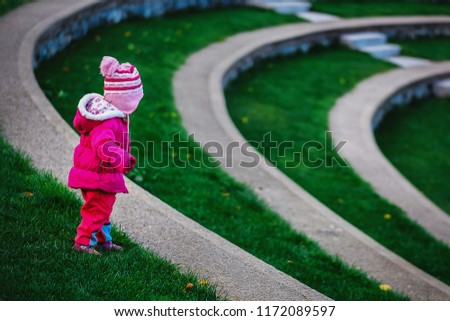 Portret of cute little girl child in the park istanbul TURKEY #1172089597