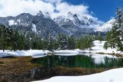 Posets Maladeta Natural Park at the Pirineos