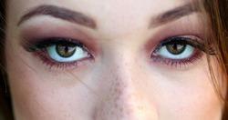 Pretty girl macro closeup eyes