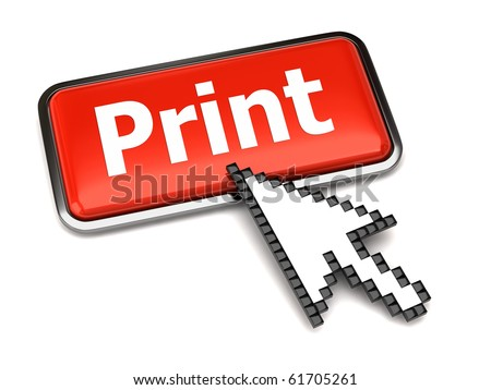 Print button and arrow cursor