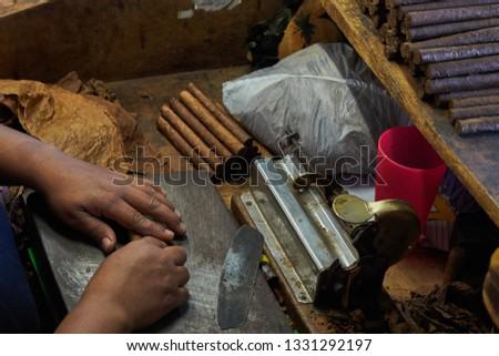 Producing cuban cigars, hand made at Cuba                               #1331292197
