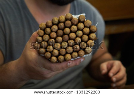 Producing cuban cigars, hand made at Cuba                               #1331292200