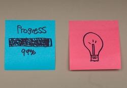 99% progress, almost there, progress bar.