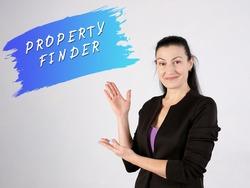 PROPERTY FINDER phrase on the side