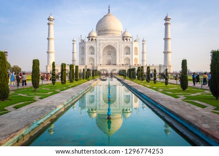 (Public place) Taj Mahal : UNESCO World Heritage at Agra, India