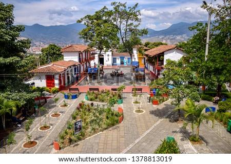 'Pueblito Paisa' in Medellín, Colombia Foto stock ©