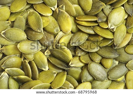 pumpkin seeds - stock photo