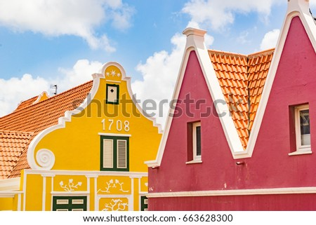 Punda a world heritage site Views around Curacao a small Caribbean Island