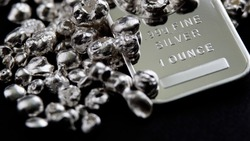 Pure silver precious metals investment