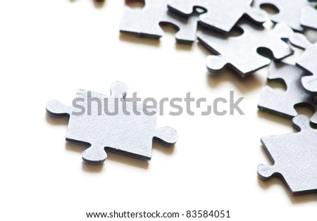Puzzle isolated on a white background