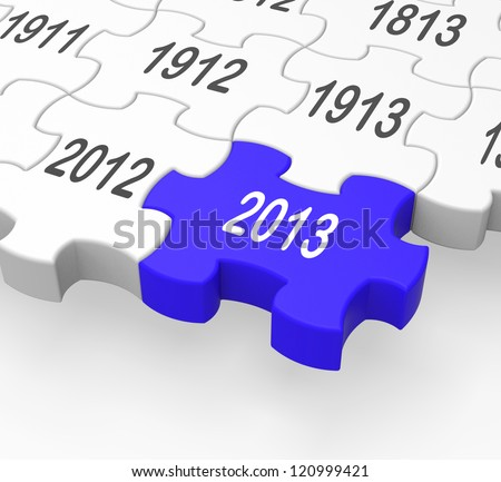 2013 Puzzle Piece Showing Near Future And Visions