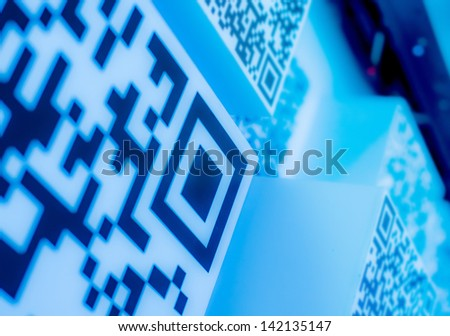 QR codes blue  science and technology wallpaper  background blue  science and technology wallpaper  background