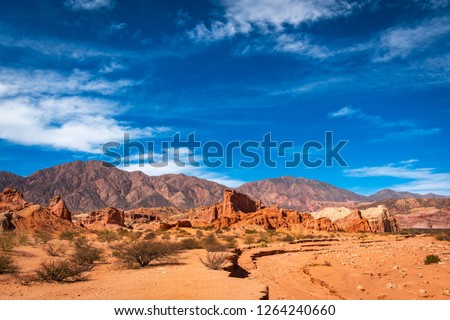 """""""Quebrada de las Conchas"""" province of Salta in Argentina #1264240660"""