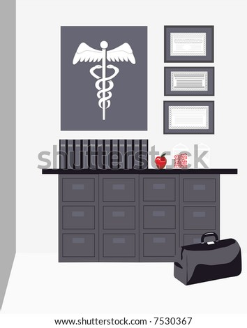 Stock photo quot doctors office quot is a well balanced composition