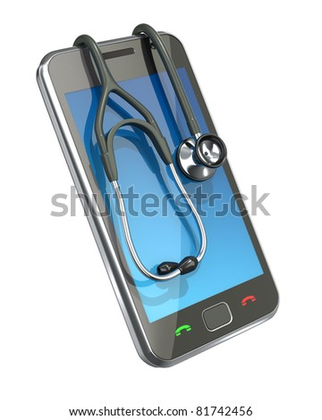 """""""First aid"""" for smartphone - stock photo"""