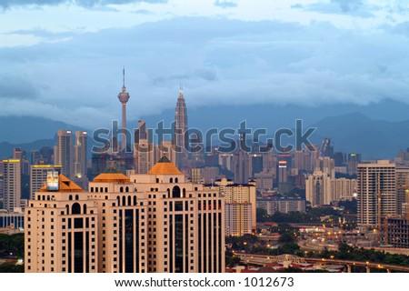 Kuala Lumpur view at dusk