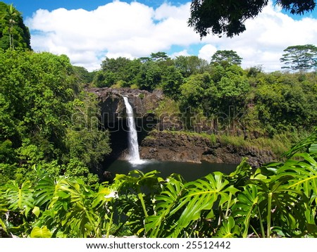 """Rainbow Falls"" at Hilo, Hawaii"