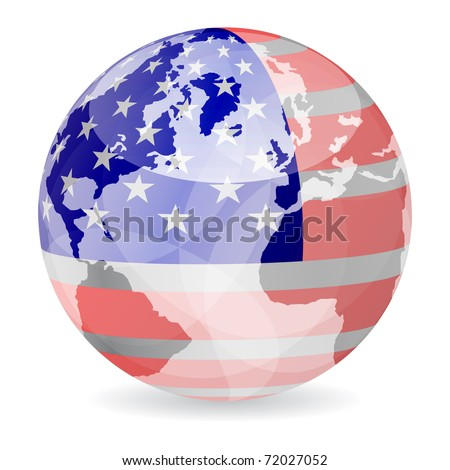 (raster image) american flag ball