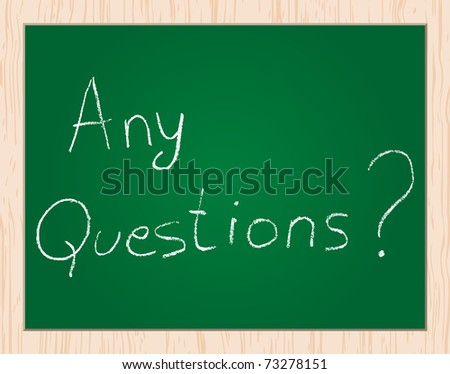 (Raster Image) Any Question? Stock Photo 73278151 ...