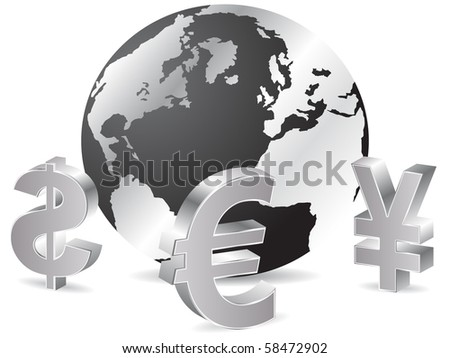 (raster image of vector) Business background