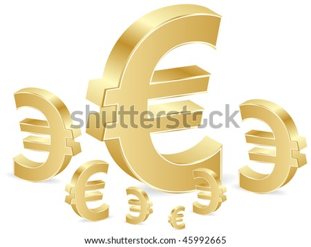 (raster image of vector) Business background with euro - stock photo