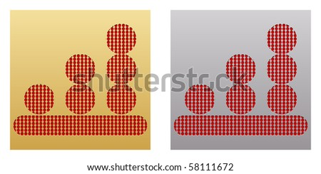 (raster image of vector) chart button