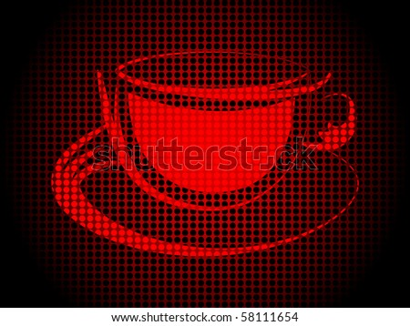 (raster image of vector) coffee cup