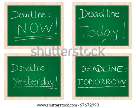 (raster image of vector) deadline concept