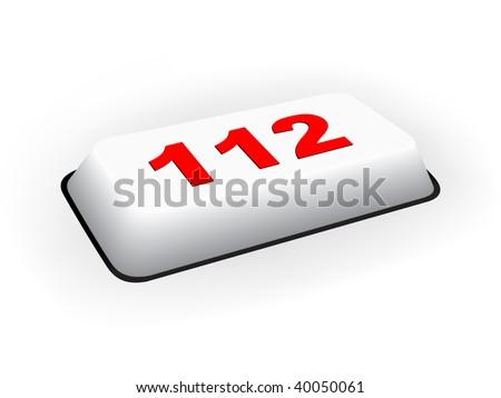 (raster image of vector) emergency phone number