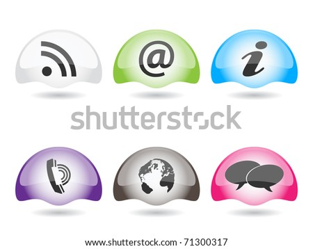 (raster image of vector) internet web buttons