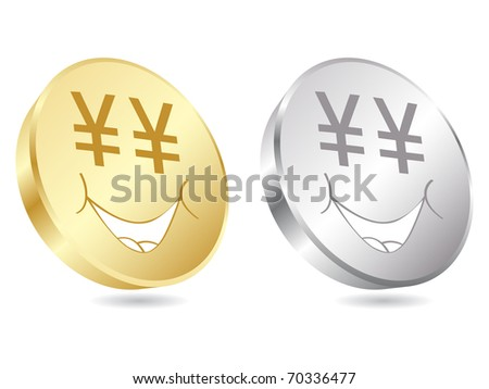 (raster image of vector) juan coins