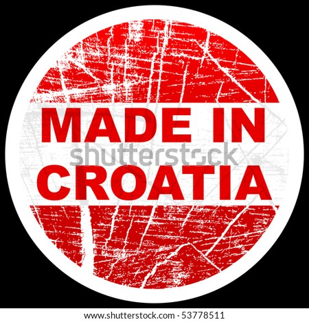 (raster image of vector) made in croatia