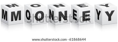 (raster image of vector) money word