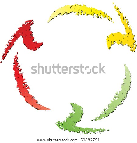 (raster image of vector)  recycle icon