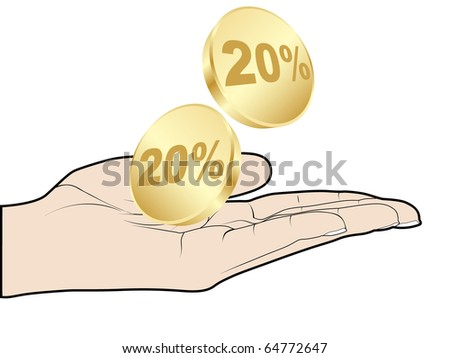 (raster image of vector) twenty percent discount
