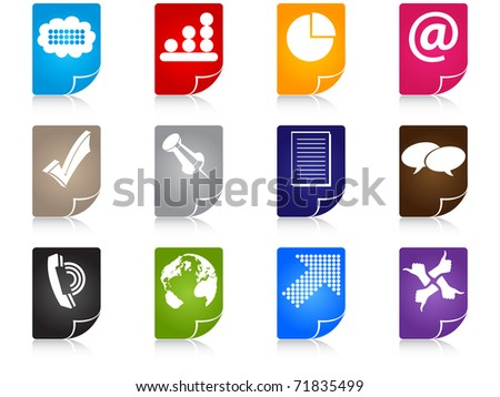 (raster image) office icons