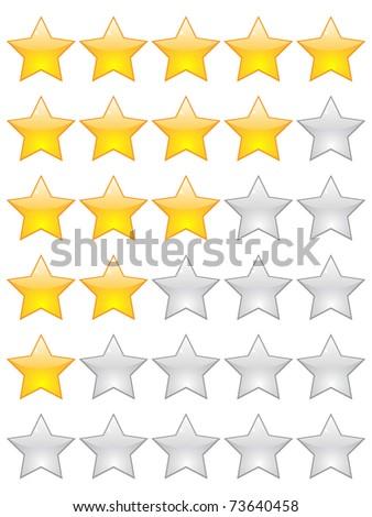 (raster image) rating stars - stock photo